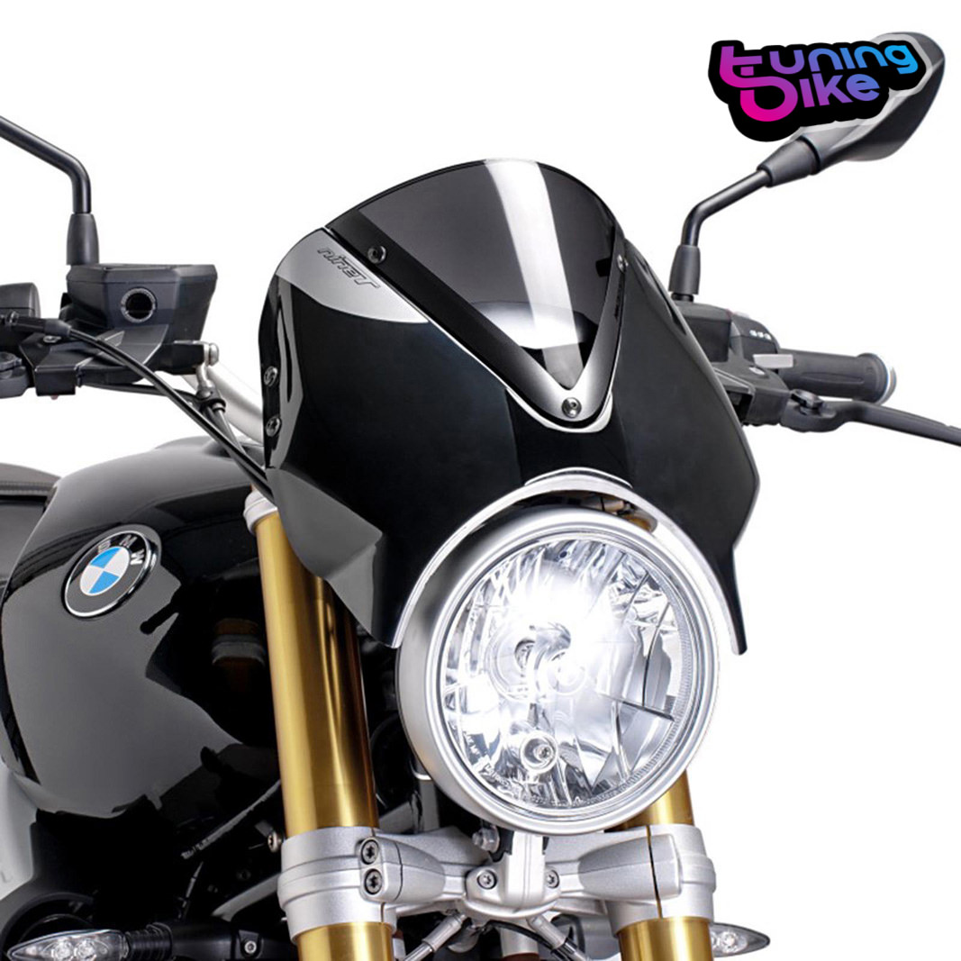 puig windscreen for bmw r nine t 2016 dark smoke black. Black Bedroom Furniture Sets. Home Design Ideas