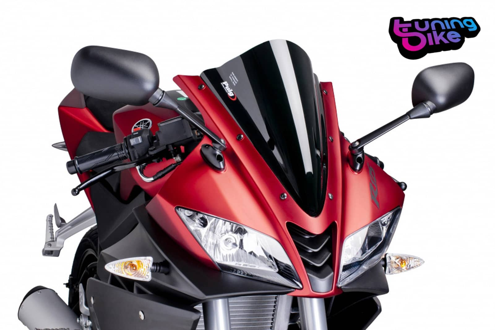 puig racing screen yamaha yzf r125 year 08 39 17 39 black ebay. Black Bedroom Furniture Sets. Home Design Ideas