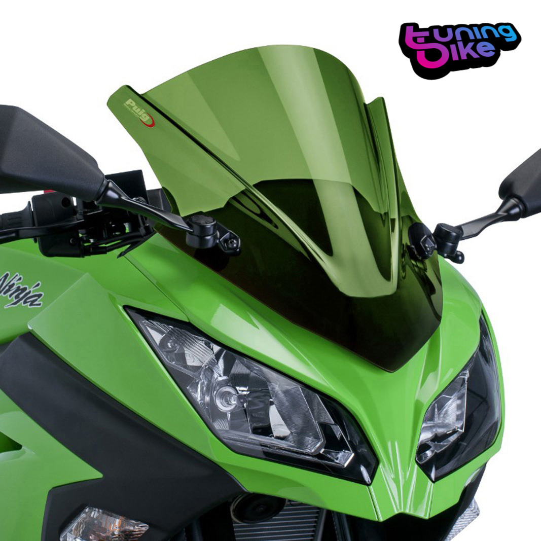Puig Racing Screen Kawasaki Ninja 300 2015 Green 4250840374250 Ebay