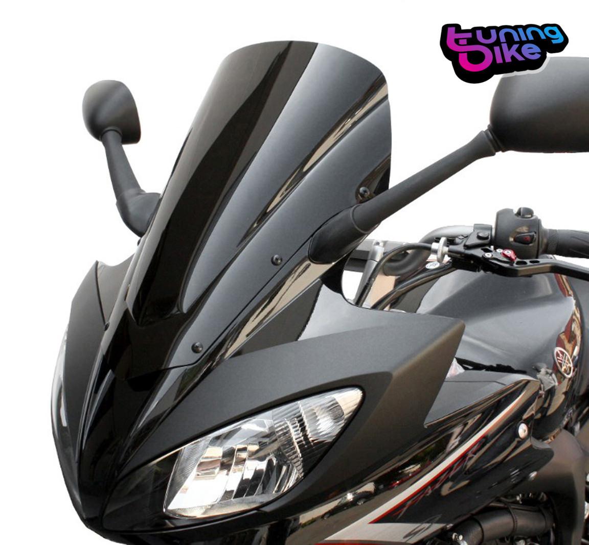 bulle racing puig pour yamaha fz6 fazer s2 annee 2007 couleur noir ebay. Black Bedroom Furniture Sets. Home Design Ideas