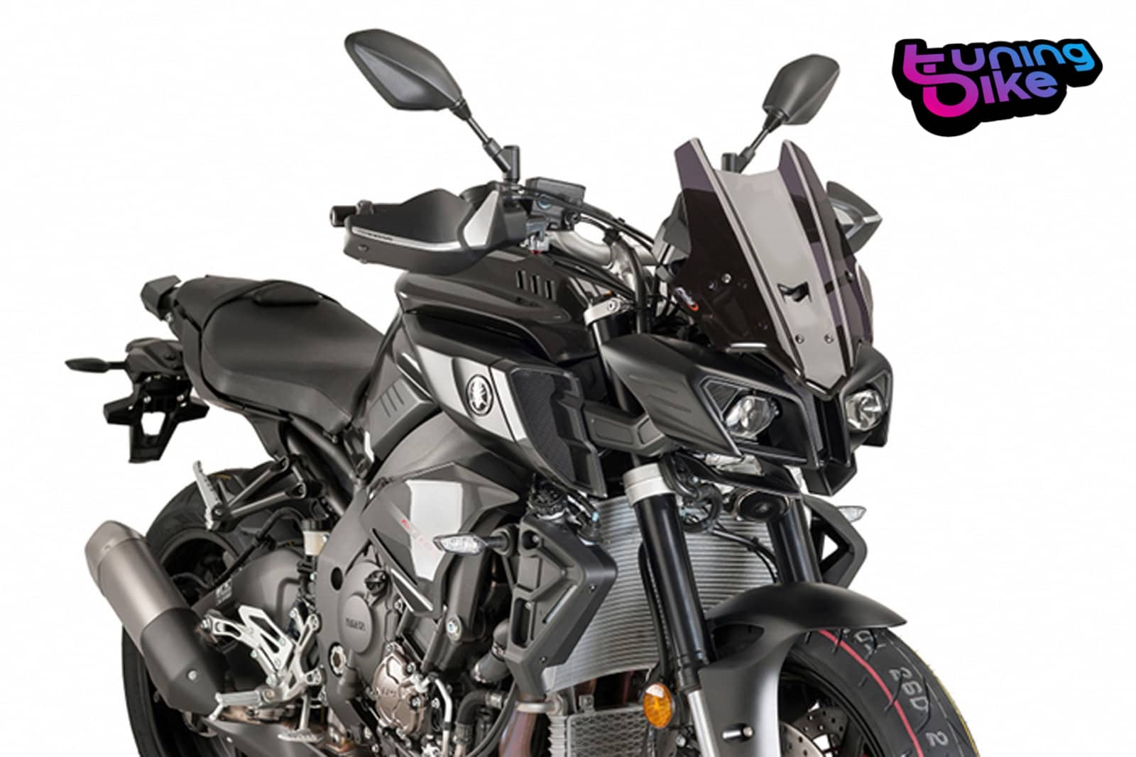 bulle racing puig yamaha mt 10 sp 2017 fume fonce ebay. Black Bedroom Furniture Sets. Home Design Ideas