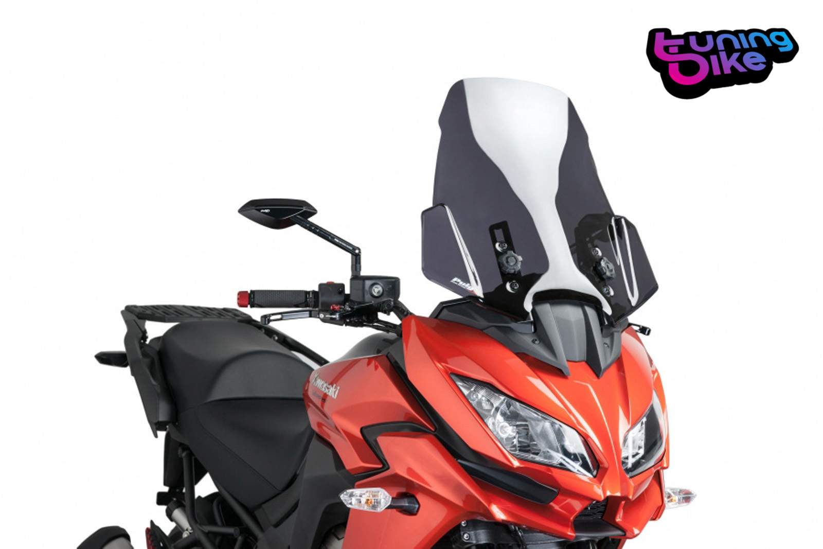 bulle touring puig kawasaki versys 1000 2016 fume fonce ebay. Black Bedroom Furniture Sets. Home Design Ideas