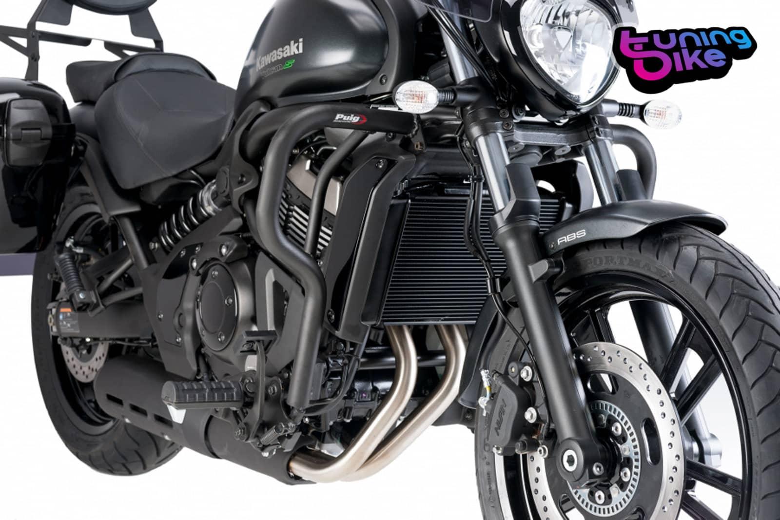 Details About Puig Engine Guards Kawasaki Vulcan S Cafe 17 18 Black
