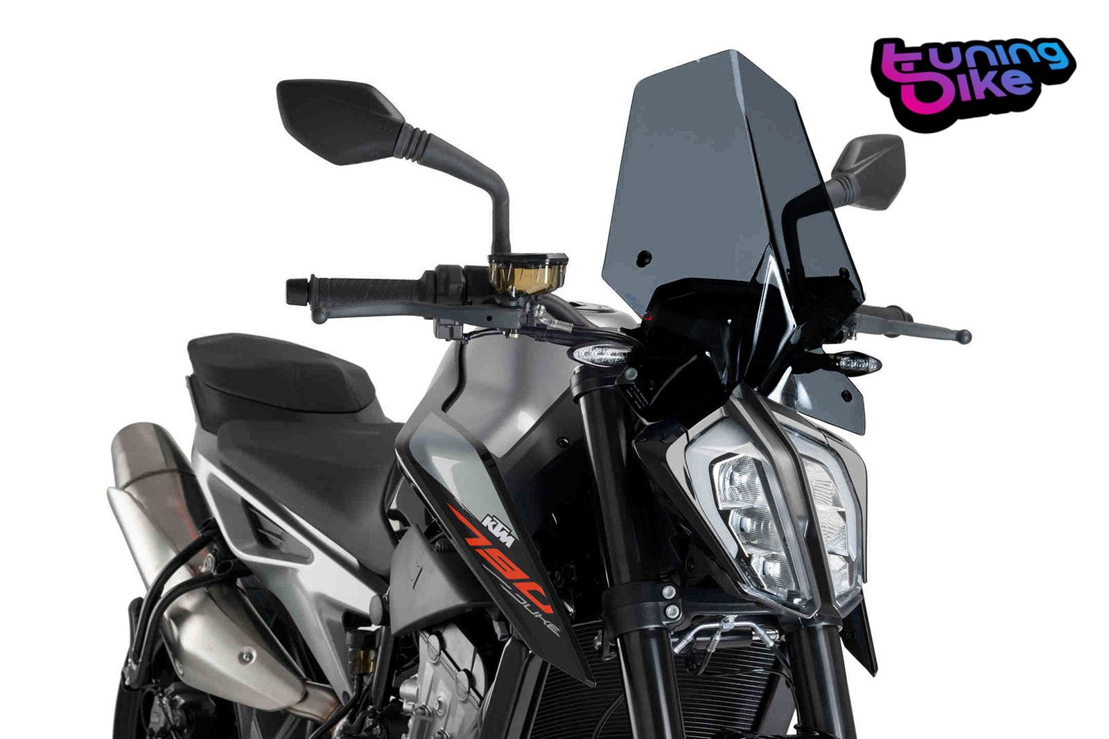 Windschild Touring Yamaha MT-09 17-18 Puig Naked New Generation rauchgrau