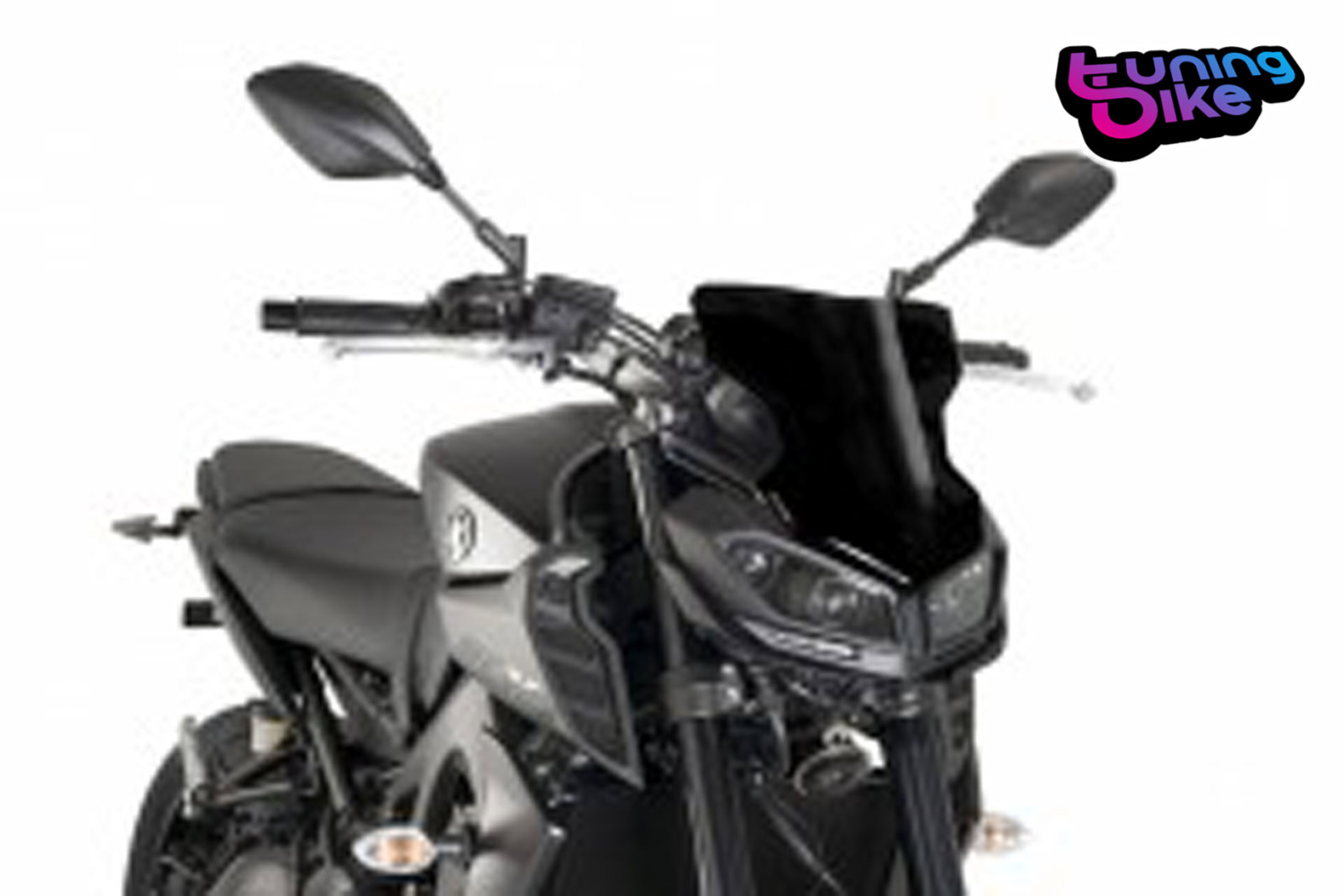 windschild sport puig yamaha mt 09 2017 schwarz ebay. Black Bedroom Furniture Sets. Home Design Ideas