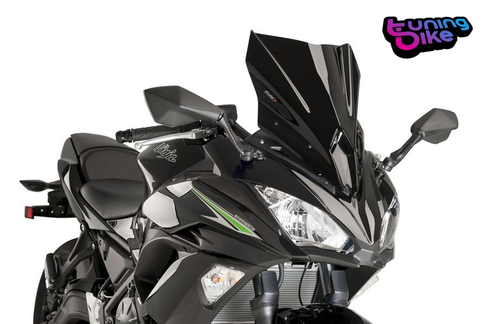 Puig Racing Screen Kawasaki Ninja 650 17 18 Black Ebay