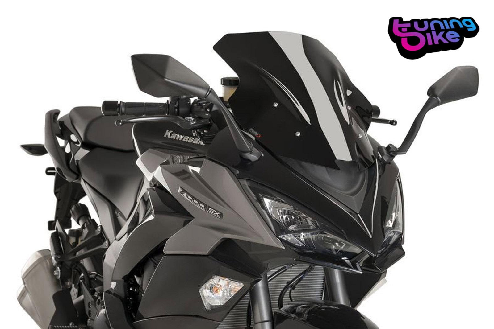 Puig Racing Screen Kawasaki Z1000sx 2017 Black Ebay