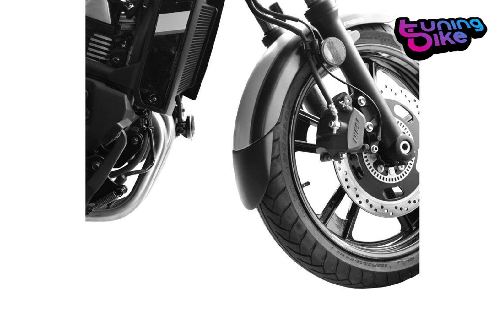 PUIG FRONT FENDER EXTENSION KAWASAKI ZX-10RR 17-18 MATT BLACK